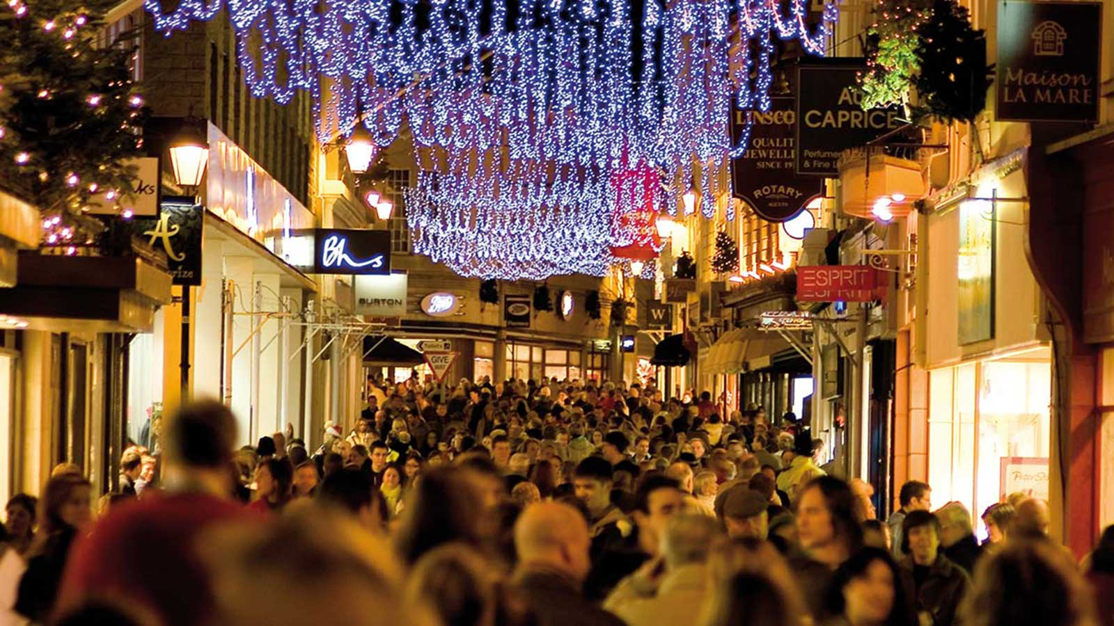 Christmas Shopping on Jersey High Street