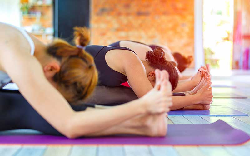 Ladies in Yoga class