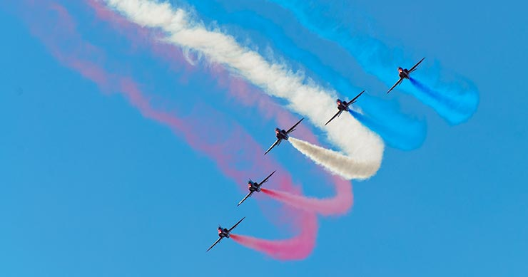 Red Arrows perform at the Jersey Air Show