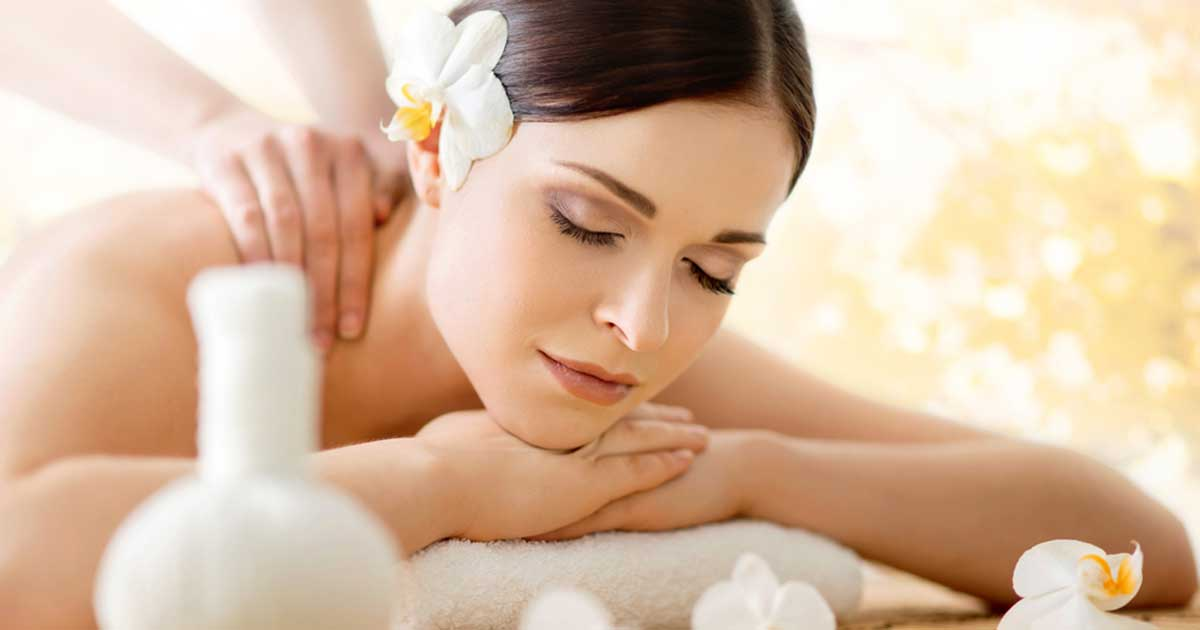 Spa lady with beautiful glowing skin