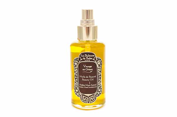 Amber Musk Sandelwood Body Oil from La Sultane de Saba