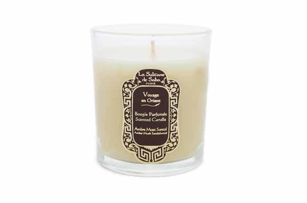 Amber Musk Sandelwood Candle from La Sultane de Saba