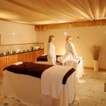 two ladies in spa treatment room